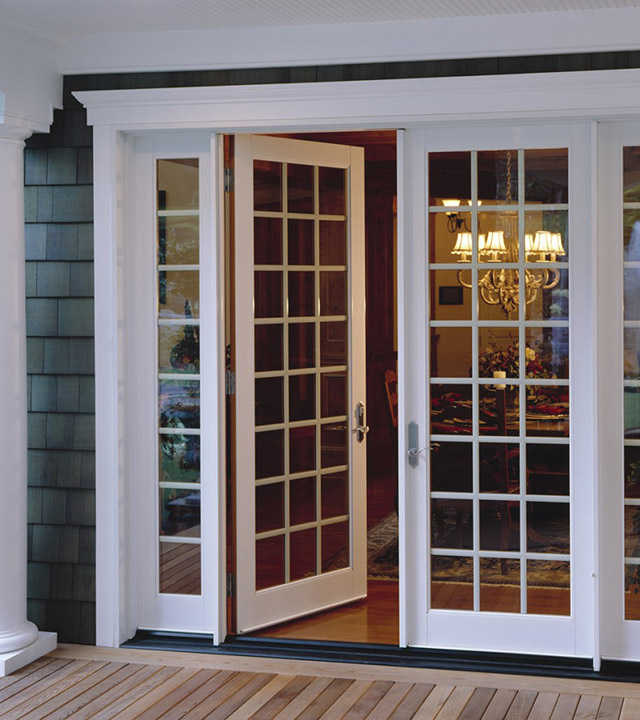 Doors anderson moulding windows and doors for Sliding glass doors that look like french doors